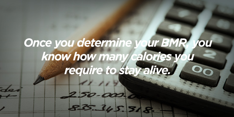 your bmr determines how many calories you need to stay alive
