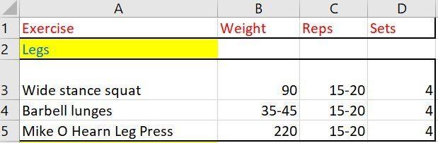 supplement tracking spreadsheet