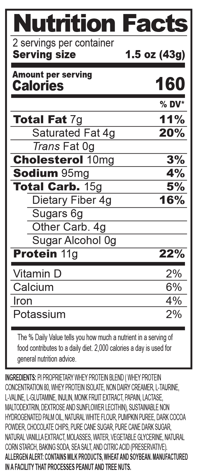 PI Protein Cookies (Box of 12) | Performance Inspired Nutrition