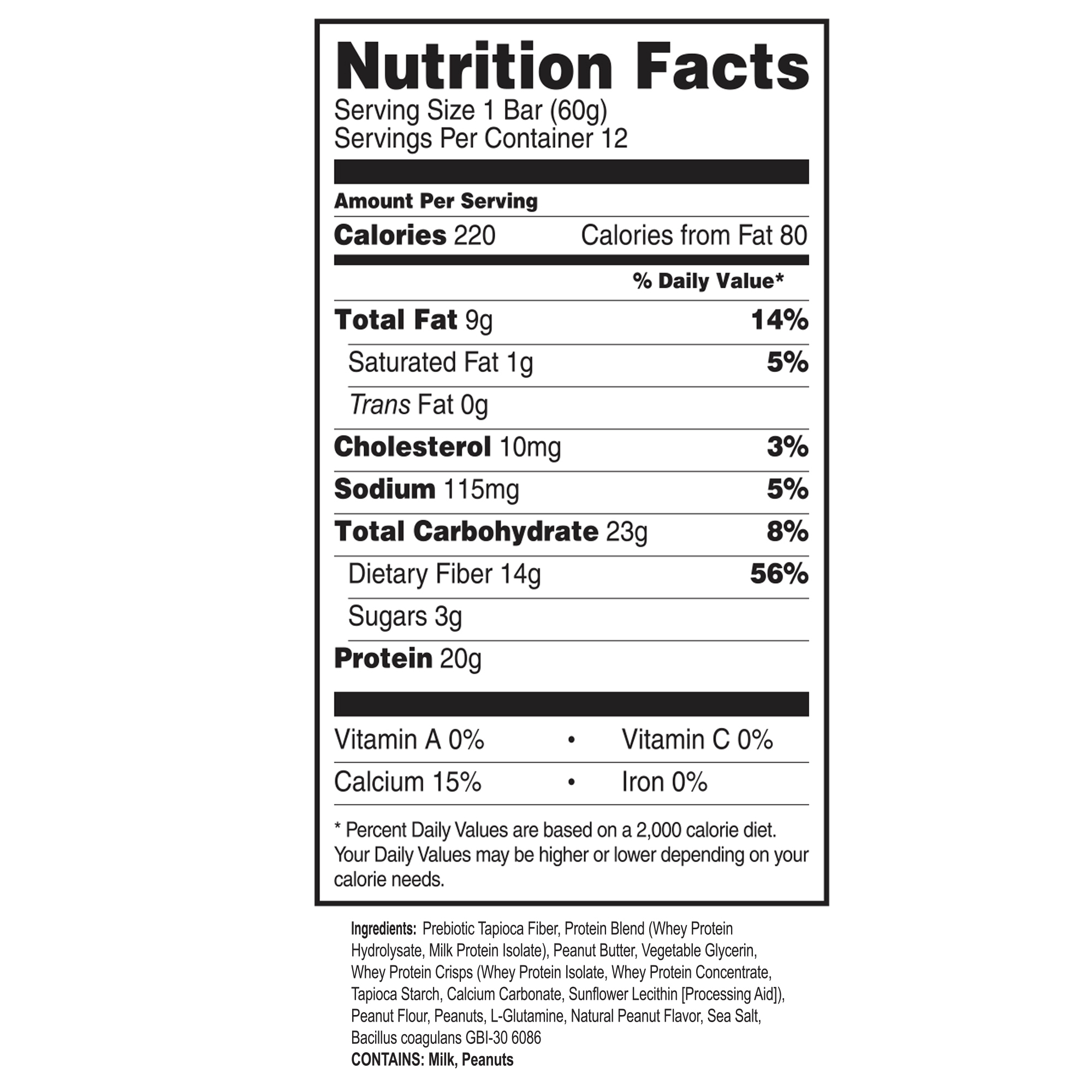 Performance Keto-Bars (Sold by the box, Contains 12 bars)