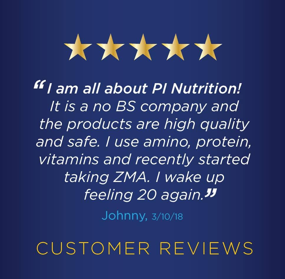 PI Nutrition Testimonials