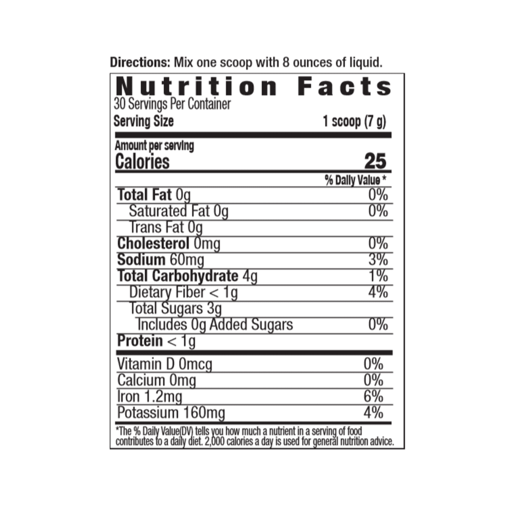 better beet powder nutrition facts