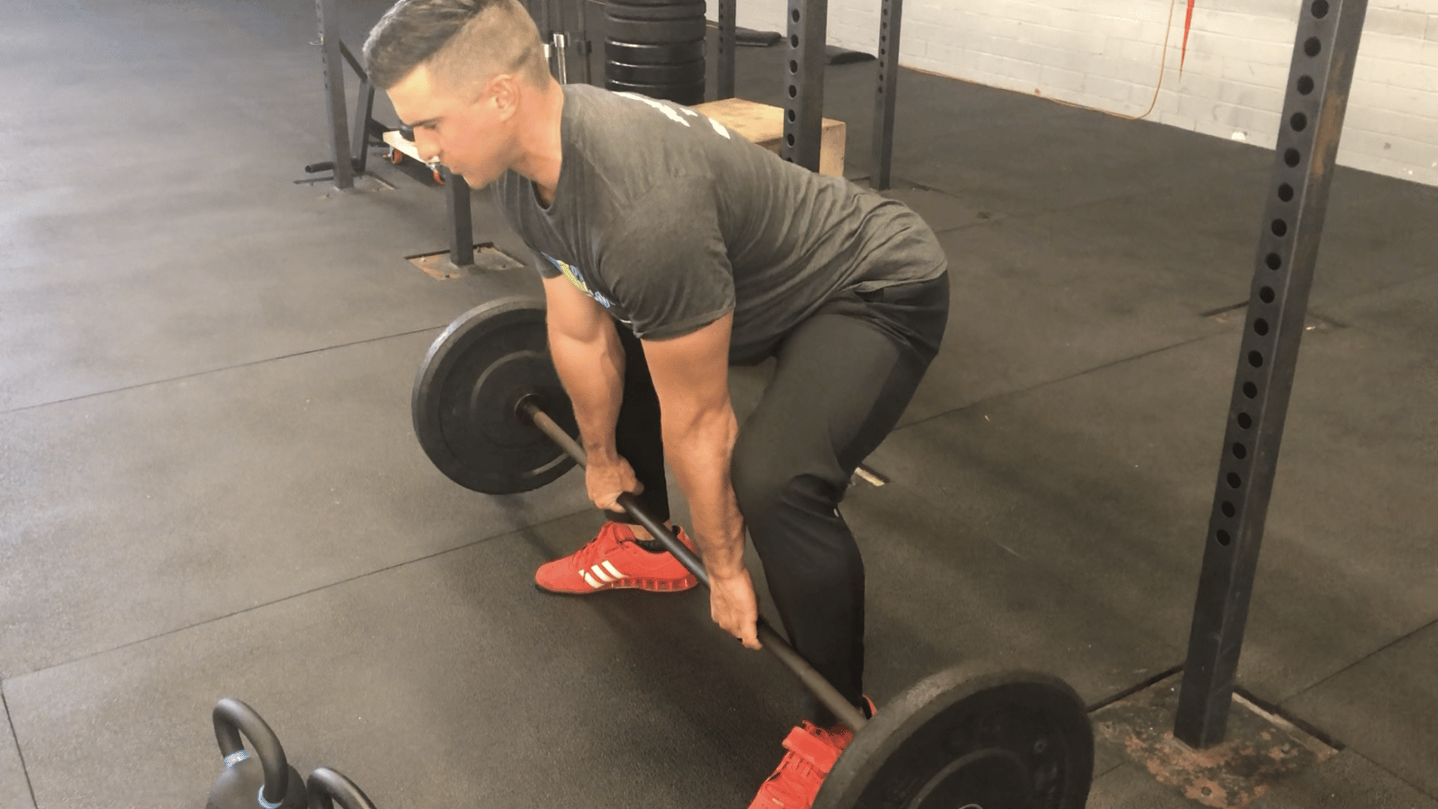 directory of fitness justin james doing squats with a barbell