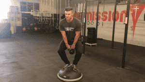 BOSU Ball Exercise Compression Swing Crouching
