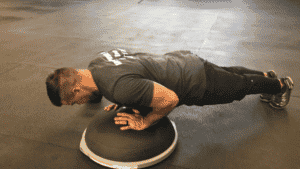 BOSU Ball Exercise Compression Pushup