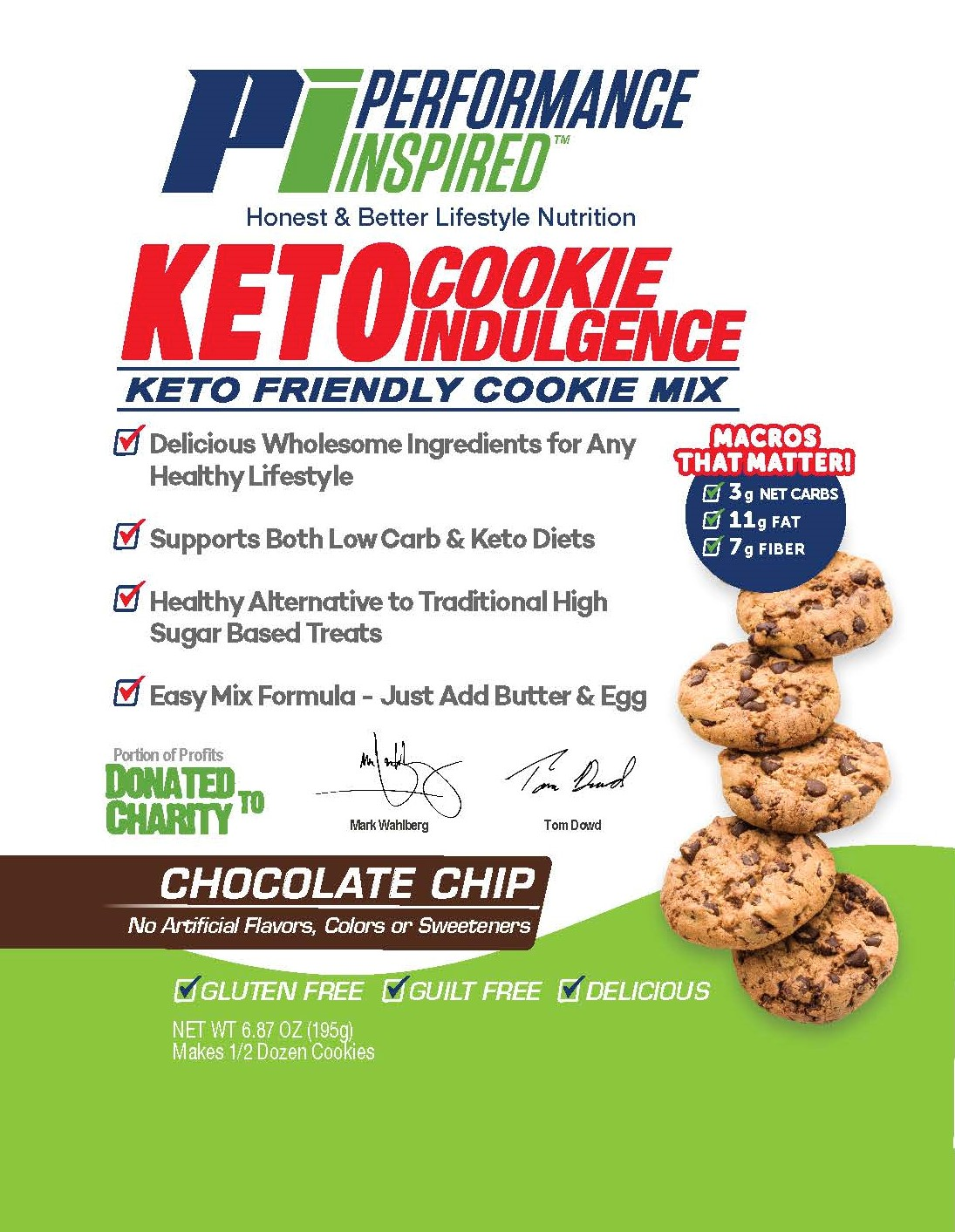 Keto Friendly cookie mix bag front